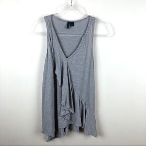 Anthropologie Left of Center Grey Layered Tank Top